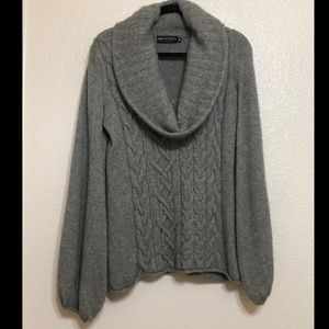 Dana Buchman Cowl Cable Knit Sweater Size M